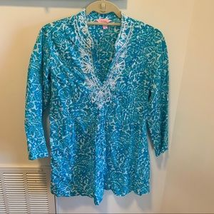 Lilly Pulitzer Party Favor Sarasota beaded tunic
